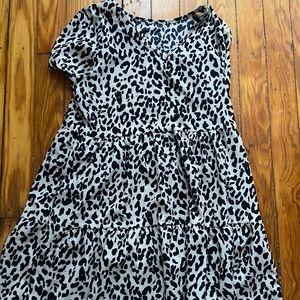 Mini leopard print dress